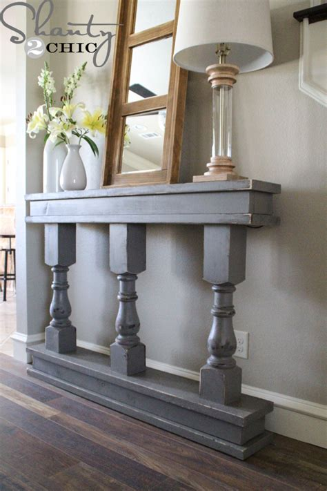 how to a console table diy console table shanty 2 chic