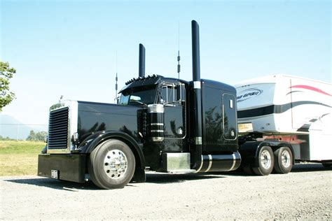 peterbilt and kenworth kenworth w900l modified black mother trucker pinterest