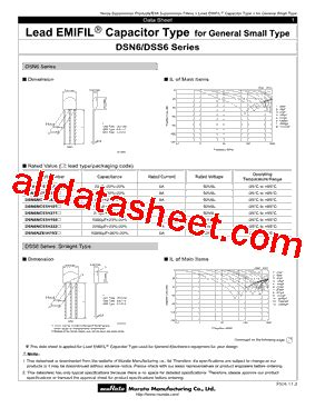 Dss6nf31c223q55b Datasheet(pdf)  Murata Manufacturing Co
