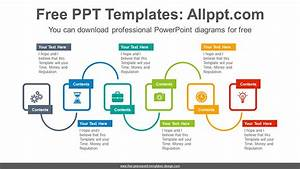 Six Rectangles Progress Powerpoint Diagram Template