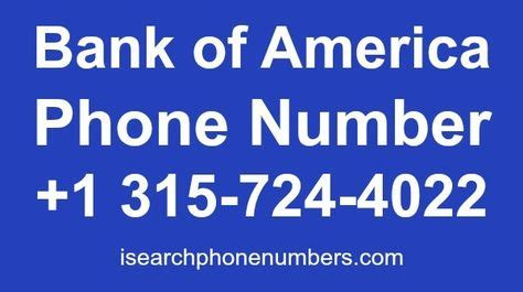 Bank of america offers services for banking, asset management, investing and risk management. Bank of America Phone Number - Customer Service, Credit ...
