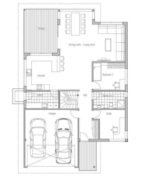 floor plans narrow lot contemporary house plans modern house plan to narrow lot