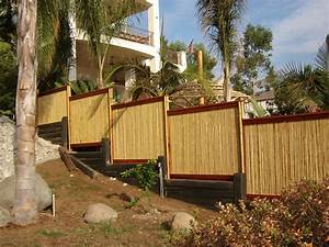 "Natural Bamboo Fence ¾"" D x 4' H x 8' L"