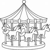 Coloring Park Amusement Pages Carousel Coaster Roller Carnival Colouring Drawing Miscellaneous Theme Night Rides Cart Coloringpagesfortoddlers Easy Meticulously Rendered Boys sketch template
