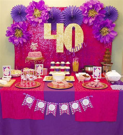 pink and gold 40th birthday decorations best 25 40 birthday decorations ideas on 40th
