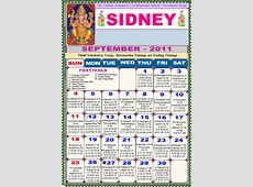 Sydney Telugu Calendar 2011