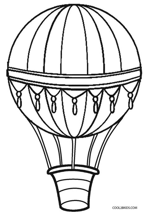 printable hot air balloon coloring pages  kids