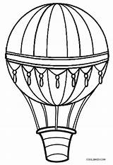 Balloon Air Printable Coloring Template Printables Drawing sketch template