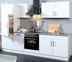Küchenzeile Hochglanz Weiß : k chenzeile varel k che mit e ger ten breite 270 cm hochglanz wei k che k chenzeilen ~ Orissabook.com Haus und Dekorationen