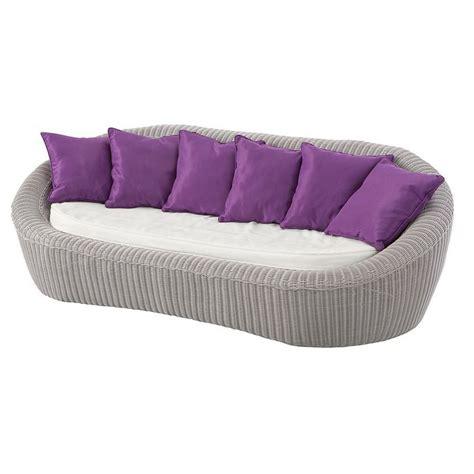canapé à composer canapé de jardin 3 places java gris clair violet salon