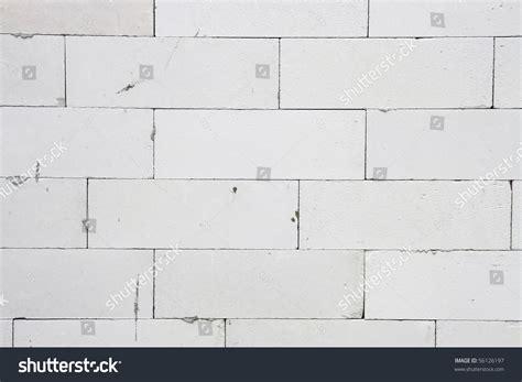 white light weight concrete brick wall stock