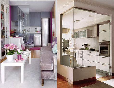 cozy design kueche und wohnzimmer  einem kleinen raum