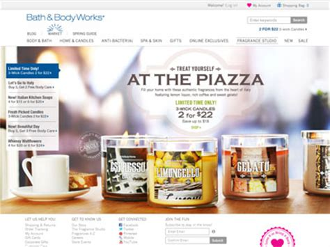 And Bath Collection Website by Bath Works Italian Piazza Home Fragrances Candles