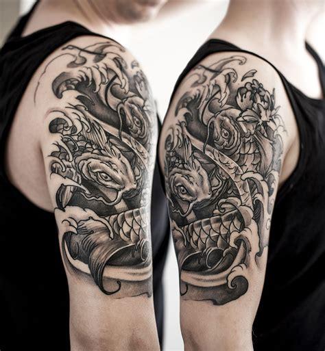 japanese  sleeve koi majlo st tattoo croatia
