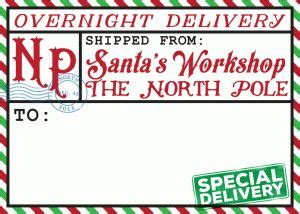 north pole shipping label christmas labels north pole