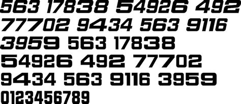 sport numbers regular premium font buy