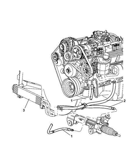 Dodge Ram Power Steering Diagram by 2002 Dodge Ram 1500 Power Steering Hoses Mopar Parts