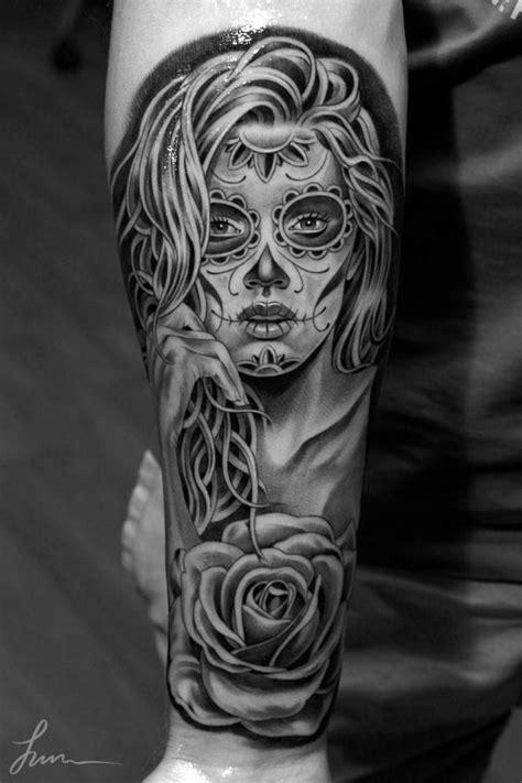 Pretty women's skull tattoo - | TattooMagz › Tattoo