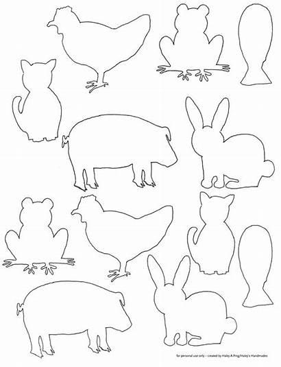 Animal Templates Animals Farm Cut Printable Template