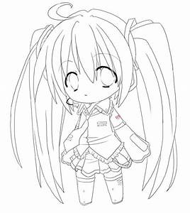 Printable Anime Coloring Pages 9 Chibi Anime Girl Coloring