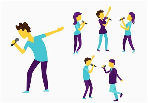 Vector People Singing Download Free Vectors Clipart