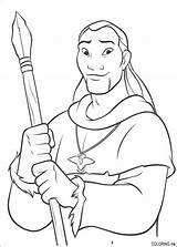Coloring Bear Spear Human sketch template