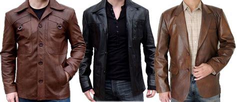 jaket kulit pria model terbaru keren casual klasik