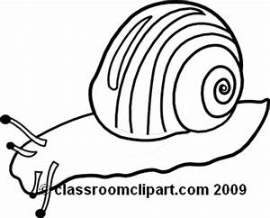Animals Clipart- snail_clipart_098BW - Classroom Clipart