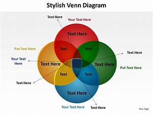 Stylish Venn Diagram With 4 Circles Overlapping For