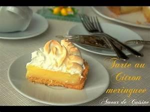 Recette Tarte Citron Meringuée Facile : recette facile de la tarte au citron meringu e youtube ~ Nature-et-papiers.com Idées de Décoration
