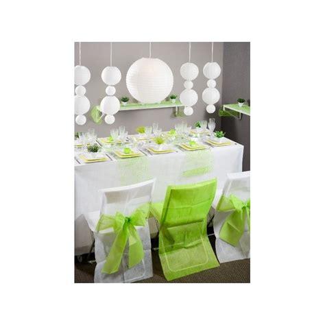 chaise vert anis housse de chaise intissé blanc noeud vert anis les 10
