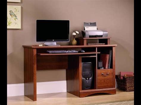 Sauder Camden County Computer Desk by Sauder Camden County Computer Desk Planked Cherry Finish