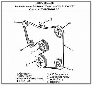 2004 Ford Taurus V6 Serpentine Belt Diagram