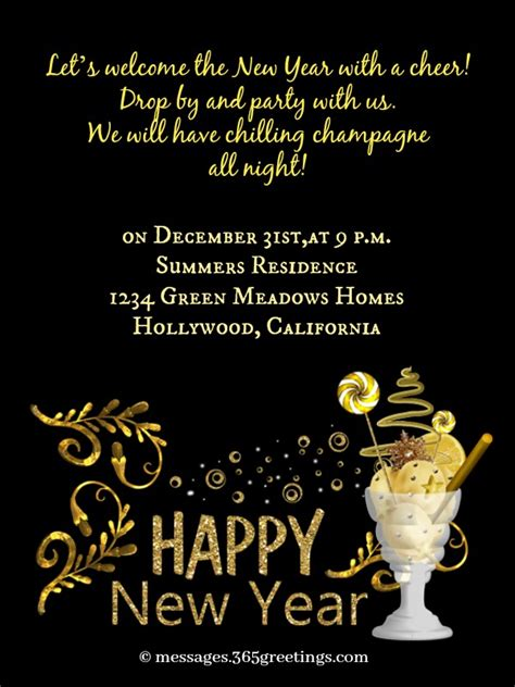 year party invitation wording greetingscom