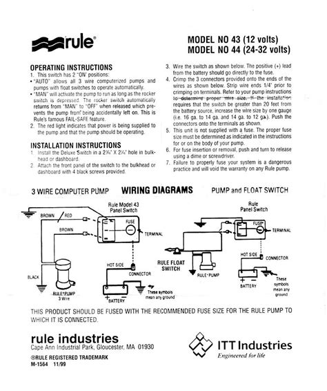 rule bilge switch wiring diagram boat electronics diagram wire
