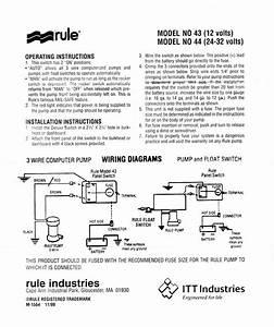Rule Bilge Pump Wiring Diagram 3 Wire