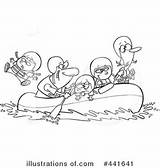 Rafting Clipart Illustration Royalty Toonaday Rf Illustrationsof sketch template
