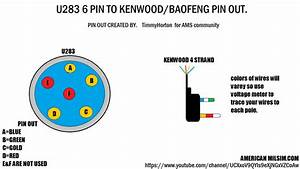 Pin Out For U283 6 Pin To Kenwood   Baofeng