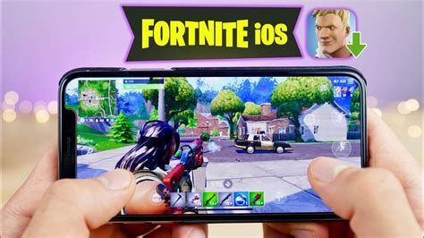 playing fortnite mobile  iphone    youtube