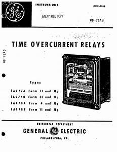 geh 1814a voltage relays types iav51a 51d 51k 52a 52c With general electric relay manuals