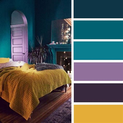 Color Palettes For Bedrooms by And Closed But Warm Teal Yellow Combo Is