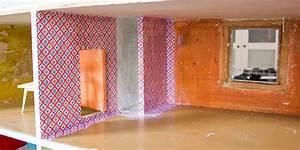 Wand Mit Stoff Verkleiden : neugestaltung eines puppenhauses 2 innenr ume tapezieren kreativlabor berlin ~ Bigdaddyawards.com Haus und Dekorationen