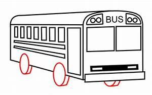 Drawing a cartoon bus