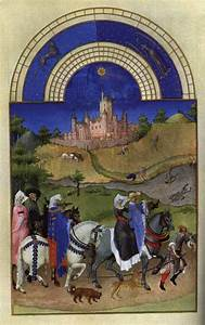 Facsimile, Of, August, Hawking, -, Limbourg, Brothers
