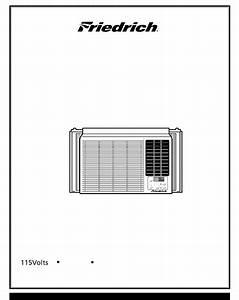 Friedrich Air Conditioner Cp08e10 User Guide