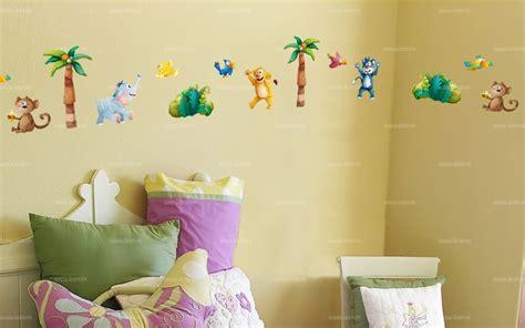 frise chambre enfant sticker frise b 233 b 233 s animaux de la jungle