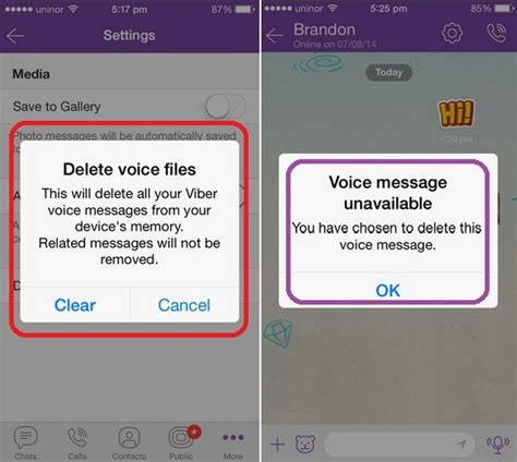 how to delete messages on iphone how to delete voice message in viber iphone ios 8