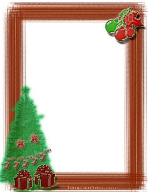 christmas tree template border  wishes cards