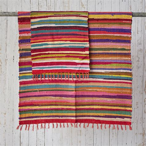 cotton rag rugs fair trade handloomed cotton rag rugs by paper high