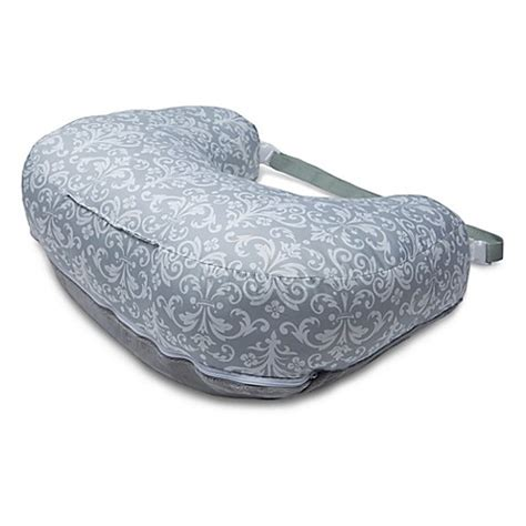 boppy travel pillow boppy 174 2 sided pillow in kensington grey